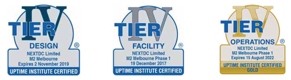 NEXTDC M2 Data Center Tier Certifications