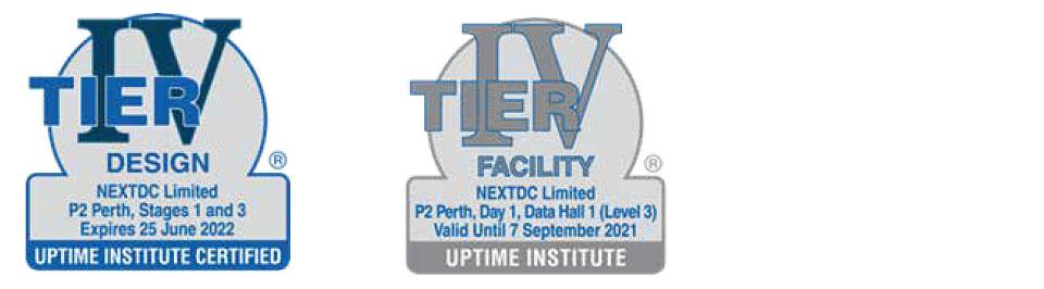 NEXTDC P2 Data Center Tier Certifications