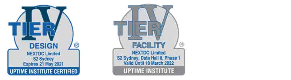 NEXTDC S2 Data Center Tier Certifications