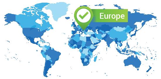 Capacitación en centros de datos en Europa