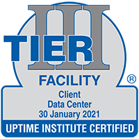 Sample of Tier Certification of Constructed Data Center Facility award