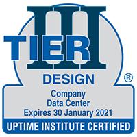 Sample of Tier Certification of Data Center Design award