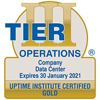 Sample of Tier Certification of Data Center Operational Sustainability award