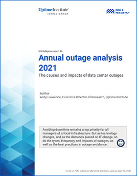 Annual outage analysis 2021