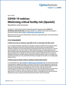 COVID-19 webinar: Minimizing critical facility risk - Q&A part 2
