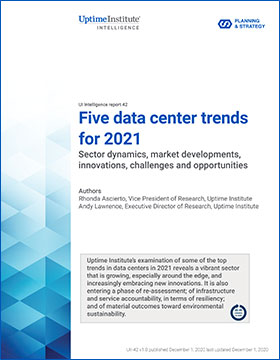 Five data center trends for 2021