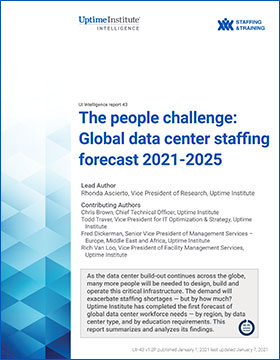 The people challenge: Global data center staffing forecast 2021-2025