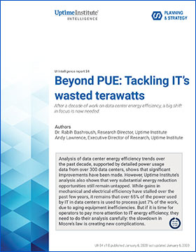 Beyond PUE: Tackling IT's Wasted Terawatts