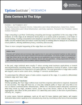 Data Centers At The Edge