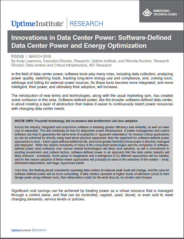 Software-Defined Power and Energy Optimization for Data Centers