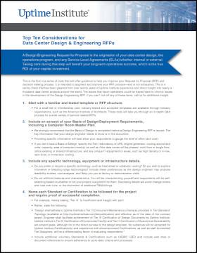 As dez melhores considerações para RFPs de projeto e engenharia de datacenters.