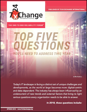 Top Five Questions to Address for your 2018 Data Center Strategy