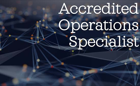 Accredited Operations Specialist (AOS)