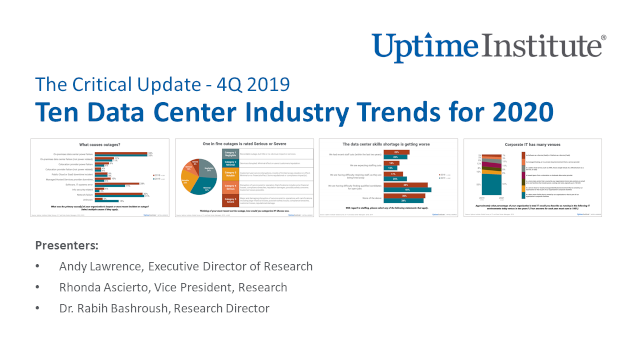 Webinar: The Critical Update - 4Q 2019:  Ten Data Center Industry Trends for 2020