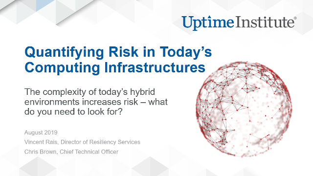 Seminario web: Quantifying Risk in Today's Computing Infrastructures