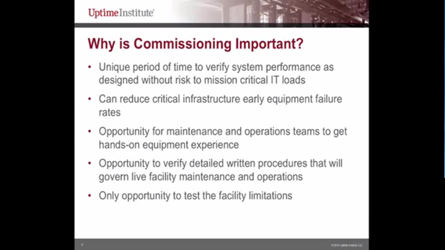 Webinar: Data Center Commissioning: Early and Often