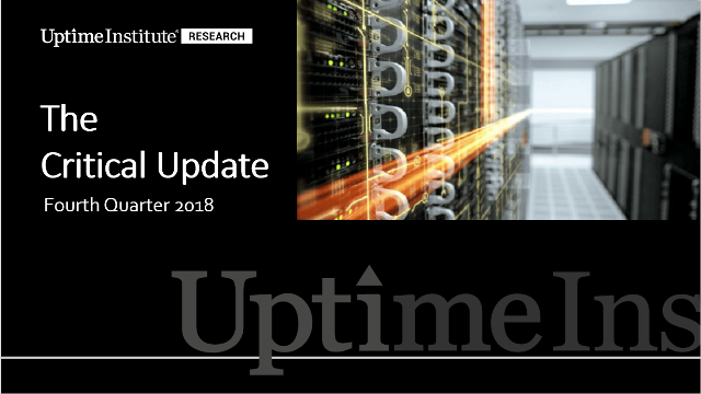 Вебинар: Uptime Institute Research: важная информация — 4-й кв. 2018 г.