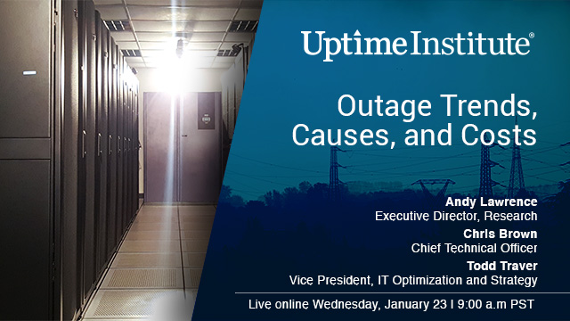Seminario web: Data Center Outage Trends, Causes and Costs