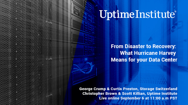 Webinar: From Disaster to Recovery: What Hurricane Harvey Means for your Data Center
