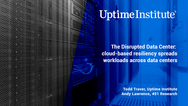 Seminario web: The Disrupted Data Center - cloud-based resiliency spreads workloads across data centers