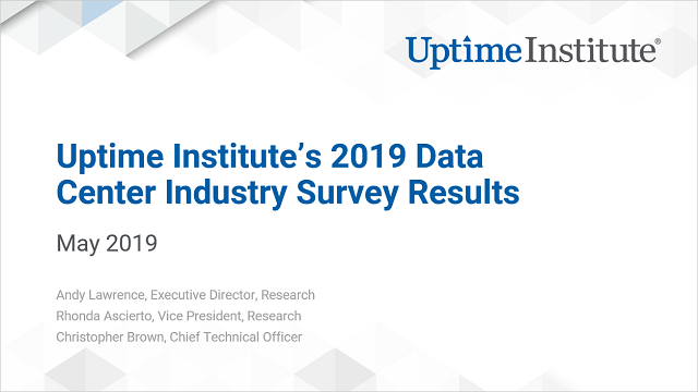 Webinar: 2019 Data Center Industry Survey Results