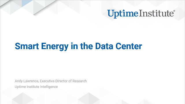 Webinar: Smart Energy in the Data Center