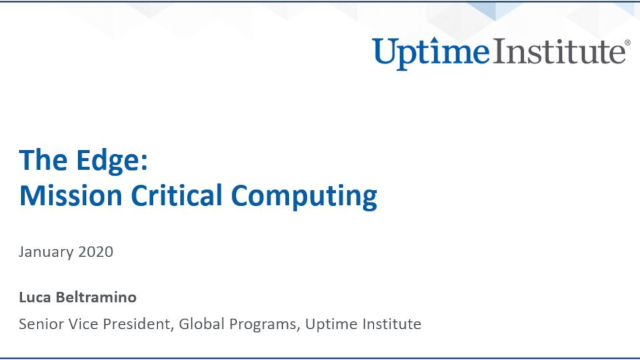 Webinar: The Edge: Mission Critical Computing