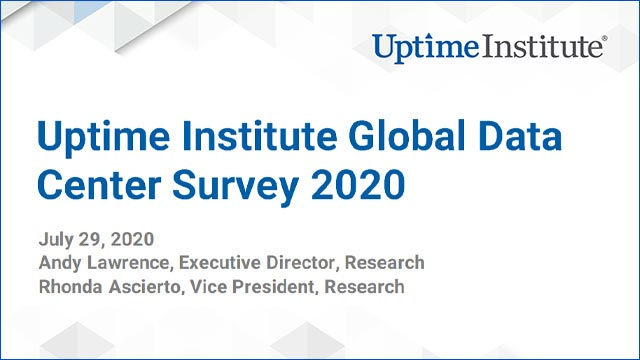 在线研讨会:Uptime Institute Global Data Center Survey 2020