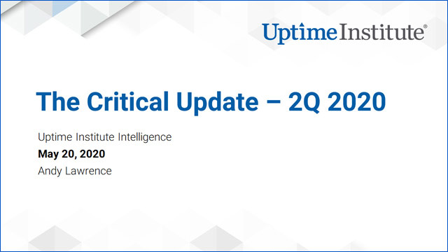 Webinar: The Critical Update - 2Q 2020