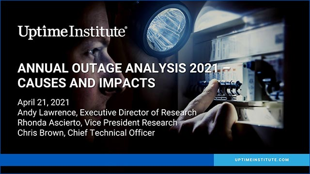 Seminario web: Annual Outage Analysis 2021 – Causes and Impacts
