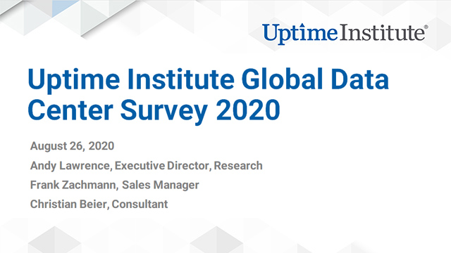 Webinar: Uptime Institute Global Data Center Survey 2020 (German)