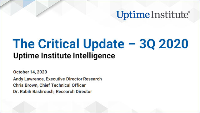 Webinar: The Critical Update - 3Q 2020