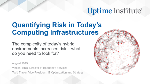 在线研讨会:Quantifying Risk in Today's Computing Infrastructures