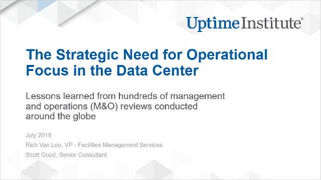 Webinar: The Strategic Need for Operational Focus in the Data Center
