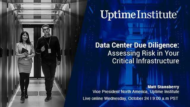 Seminario web: Data Center Due Diligence: Assessing Risk in Your Critical Infrastructure