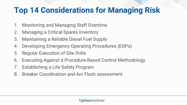 Webinar: Top Considerations for Addressing Data Center Facilities Management Risks