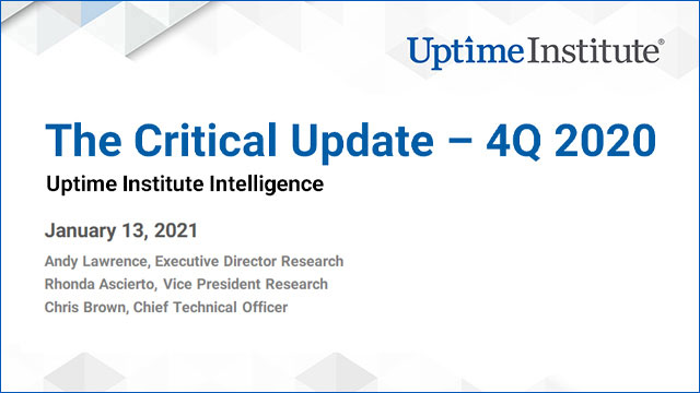 Webinar: The Critical Update - 4Q 2020