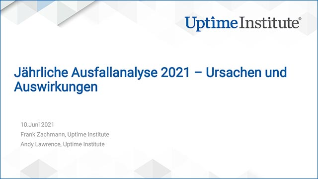 Webinar: Annual Outage Analysis 2021 – Causes and Impacts (Webinar in German)